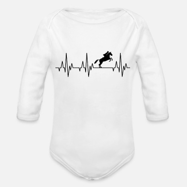 Equitation Heartbeat Horses Riding Harness Racing Equitation - Organic Long Sleeve Baby Bodysuit