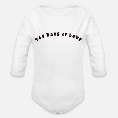 365 Days 365 days of Love - Organic Long-Sleeved Baby Bodysuit
