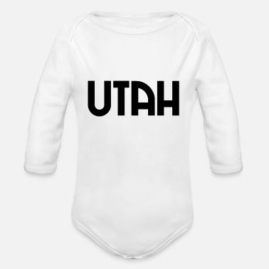City-state Utah - Salt Lake City - US - State - United States - Organic Long-Sleeved Baby Bodysuit
