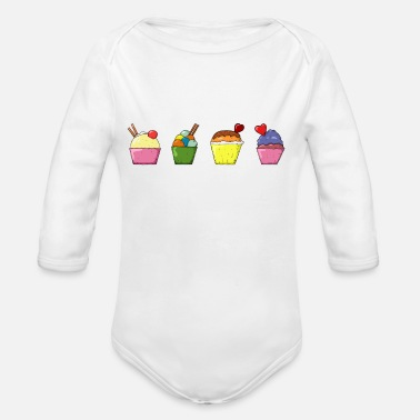 Sweetmeat Sweets - Organic Long-Sleeved Baby Bodysuit