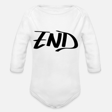 End end - Organic Long-Sleeved Baby Bodysuit