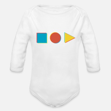 Shape in shape - Organic Long-Sleeved Baby Bodysuit