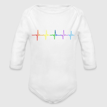 Heartbeat with Pride - Organic Long Sleeve Baby Bodysuit