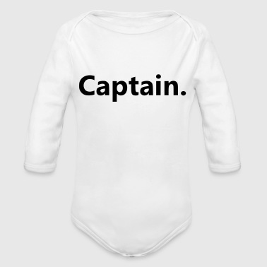 Captain. - Organic Long Sleeve Baby Bodysuit