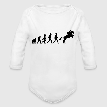 Evolution Horses Riding Harness Racing Equitation - Organic Long Sleeve Baby Bodysuit