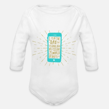 Mobile Phone Generation mobile phone - Organic Long-Sleeved Baby Bodysuit