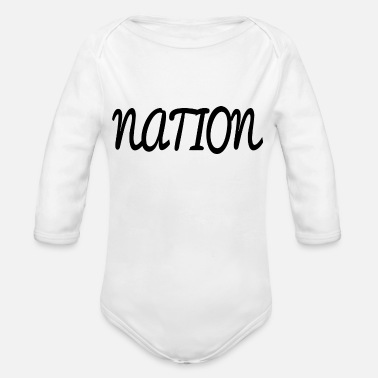 National NATION - Organic Long-Sleeved Baby Bodysuit