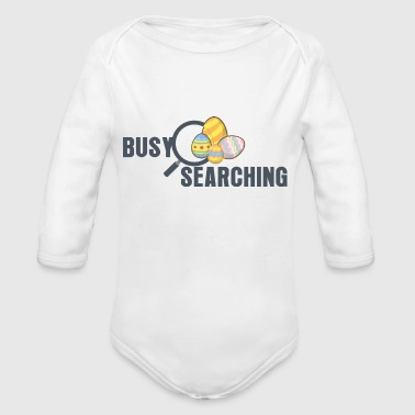 Busy Searching - Organic Long Sleeve Baby Bodysuit