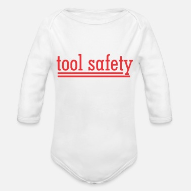 Safety Helmet tool safety - Organic Long-Sleeved Baby Bodysuit