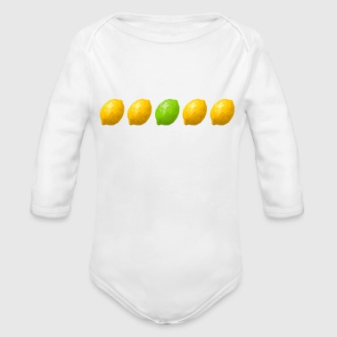 four lemons and a lime - Organic Long Sleeve Baby Bodysuit