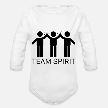 Team Spirit Team Spirit - Organic Long-Sleeved Baby Bodysuit