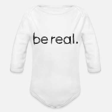 Real Be Real - Organic Long-Sleeved Baby Bodysuit