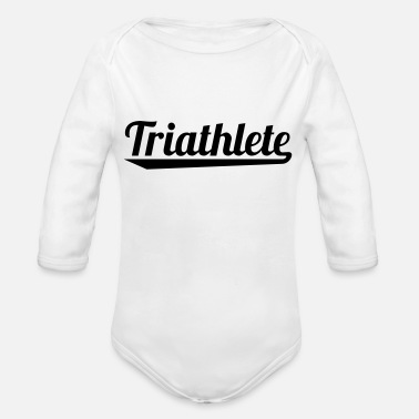 Training 2541614 127337348 triathlete - Organic Long Sleeve Baby Bodysuit