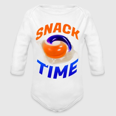 Snack SNACK TIME - Organic Long Sleeve Baby Bodysuit