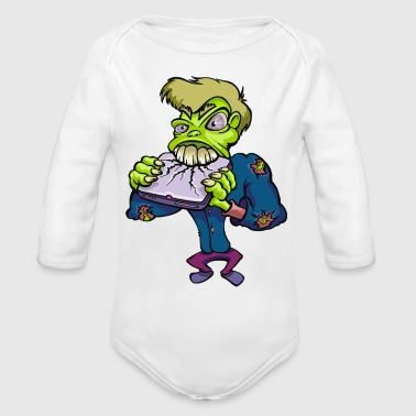 Monster cartoon character 14 - Organic Long Sleeve Baby Bodysuit