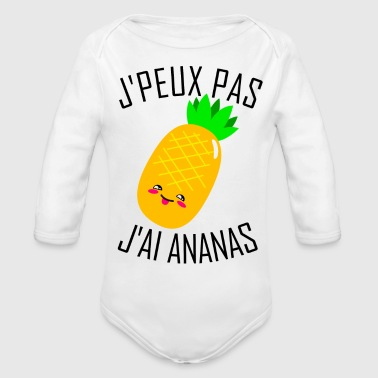I can't. I have pineapple (French Version) - Organic Long Sleeve Baby Bodysuit