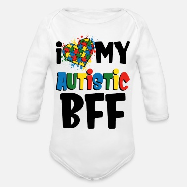 I Love My Autistic Bff - Organic Long-Sleeved Baby Bodysuit
