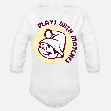 Match Plays With Matches - Organic Long Sleeve Baby Bodysuit