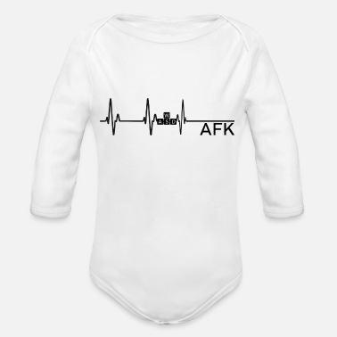 Going AFK is like dying - Organic Long-Sleeved Baby Bodysuit