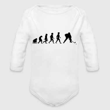 Evolution Hockey Player Puck Stick Winter Sports - Organic Long Sleeve Baby Bodysuit
