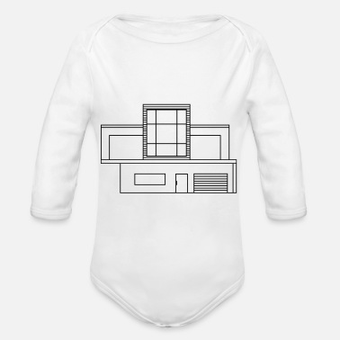 Architecture modern architecture - Organic Long-Sleeved Baby Bodysuit