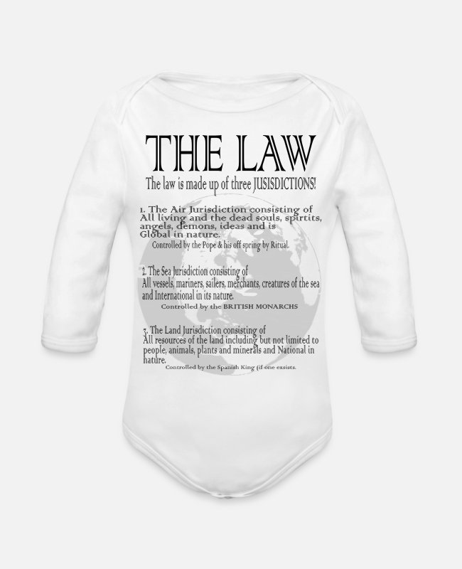 Conspiracy Baby One Pieces - The Global Estate Trust is on a shirt! - Organic Long-Sleeved Baby Bodysuit white