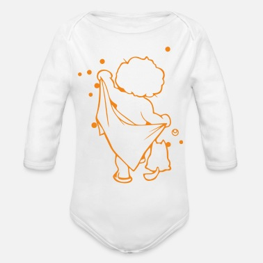 Baby Shower baby showered - Organic Long-Sleeved Baby Bodysuit