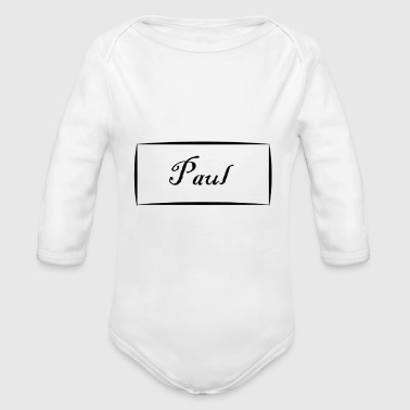 Paul - Organic Long Sleeve Baby Bodysuit