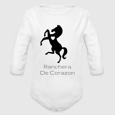 Corazon Ranchera De Corazon - Organic Long Sleeve Baby Bodysuit