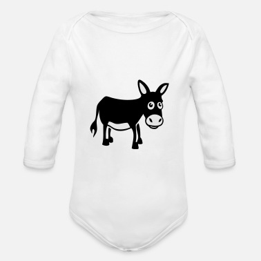donkey / âne - Organic Long-Sleeved Baby Bodysuit