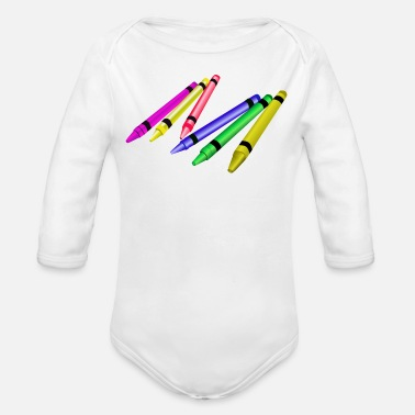 Write Your Name WRITE YOUR OWN TEXT - Organic Long-Sleeved Baby Bodysuit