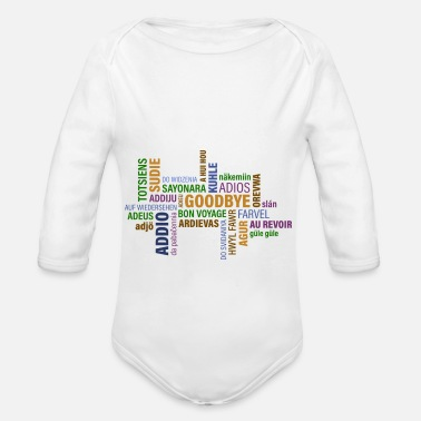 Goodbye Goodbye - Organic Long Sleeve Baby Bodysuit