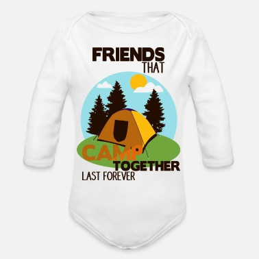 Camping With Friends Camp Shirt • Camping with friends • Tent Gift - Organic Long-Sleeved Baby Bodysuit