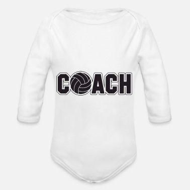Volley volley coach - Organic Long-Sleeved Baby Bodysuit