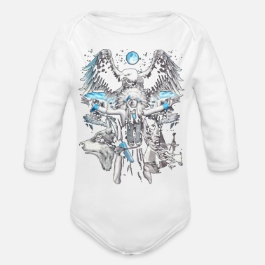 Super Natural THE NATURE - Organic Long Sleeve Baby Bodysuit