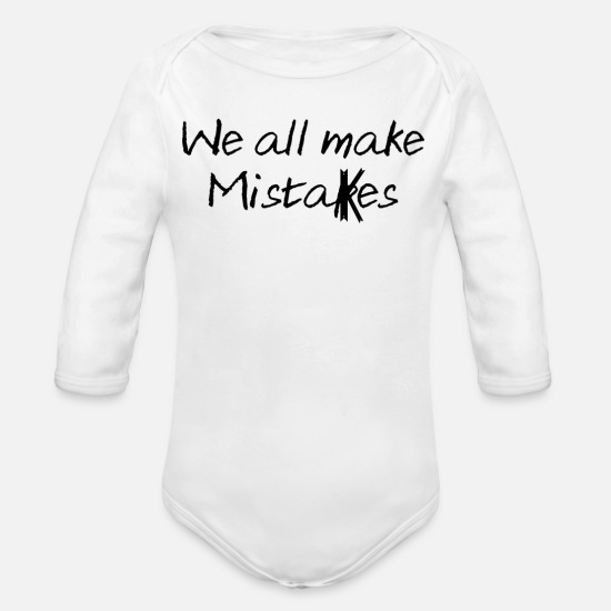 Gift Idea Baby Clothing - Quotes - Organic Long-Sleeved Baby Bodysuit white