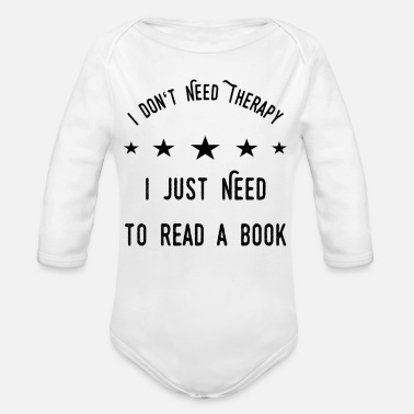 Book Book - Organic Long-Sleeved Baby Bodysuit
