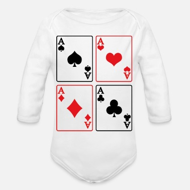 Rummy Ace Cards Game Rummy Skat Casino Present - Organic Long-Sleeved Baby Bodysuit
