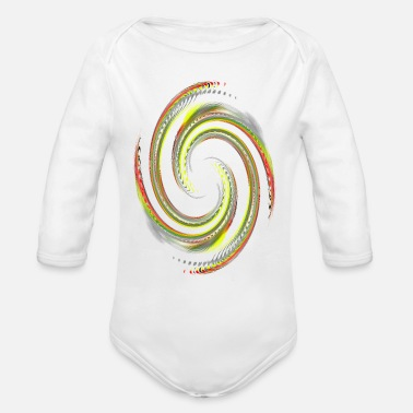 Rotor Color rotor - Organic Long-Sleeved Baby Bodysuit