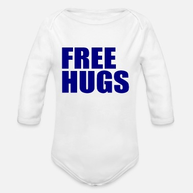 Free Free Hugs - Organic Long-Sleeved Baby Bodysuit