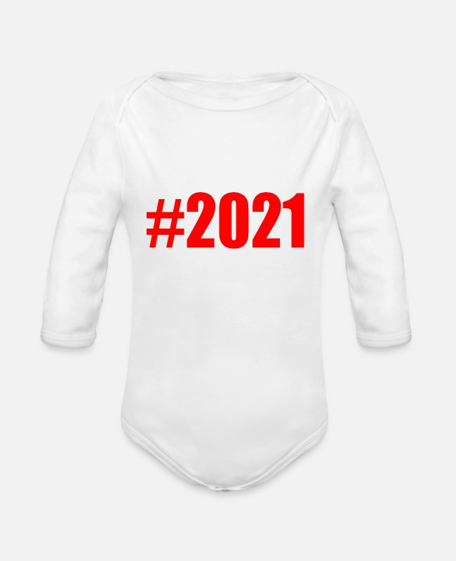 Father's Day Baby One Pieces - 2021 - Organic Long-Sleeved Baby Bodysuit white