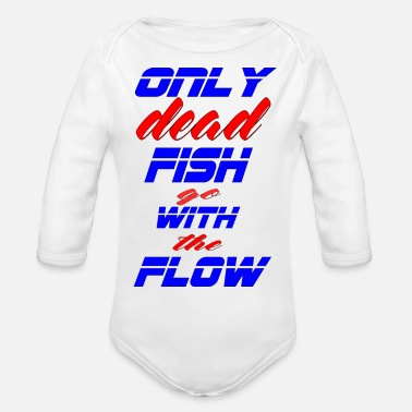only dead fish - Organic Long-Sleeved Baby Bodysuit