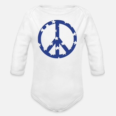 Peace Sign peace sign - Organic Long Sleeve Baby Bodysuit