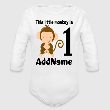 Monkey 1st Birthday - Long Sleeve Baby Bodysuit
