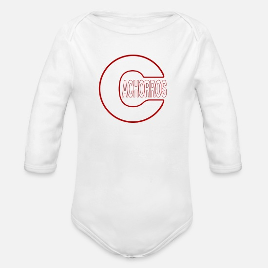 Cubs Baby Clothing - Cachorros (Cubs) - Organic Long-Sleeved Baby Bodysuit white