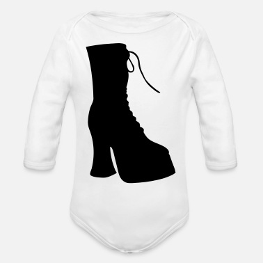 Highheels Vector highheels Silhouette - Organic Long-Sleeved Baby Bodysuit