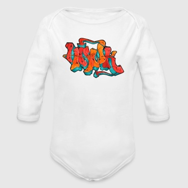 Hawk Print - Organic Long Sleeve Baby Bodysuit