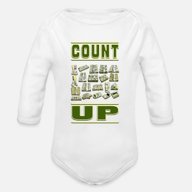 Count Royal Count Up - Organic Long Sleeve Baby Bodysuit
