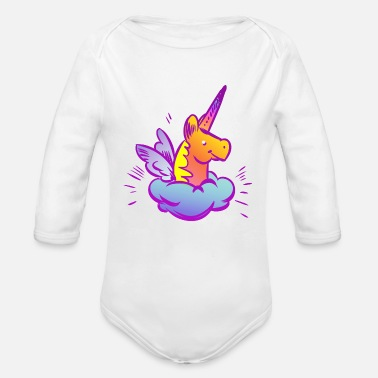 Baby Shower Sweet Unicorn - Organic Long-Sleeved Baby Bodysuit