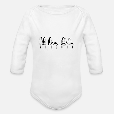 Global Penguins - Organic Long-Sleeved Baby Bodysuit